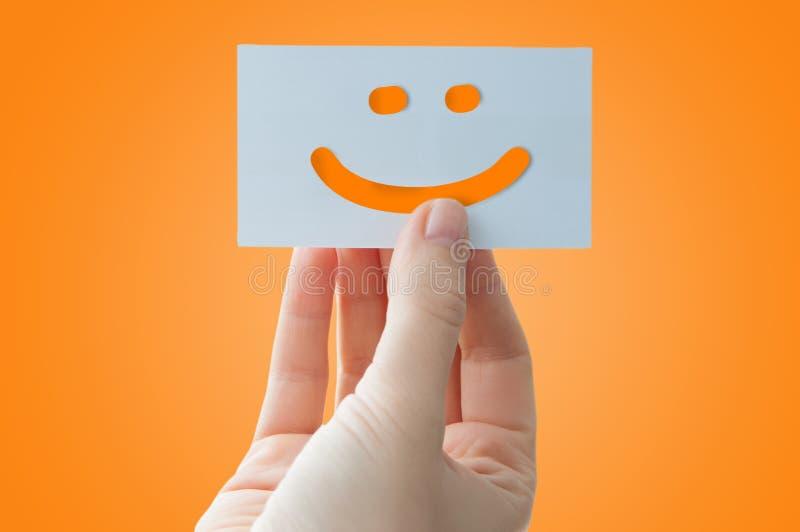 Carte de visage souriante photographie stock libre de droits