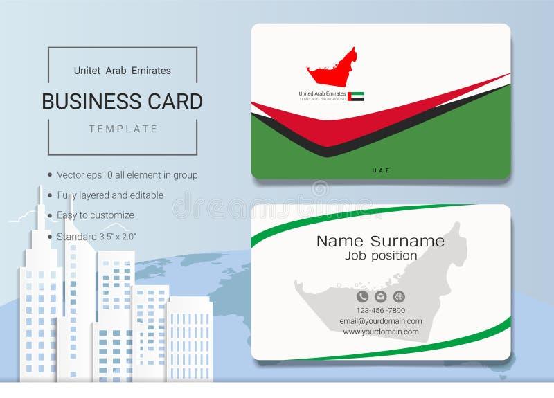Carte de visite professionnelle de visite d'abrégé sur des EAU ou calibre de carte nominative illustration libre de droits