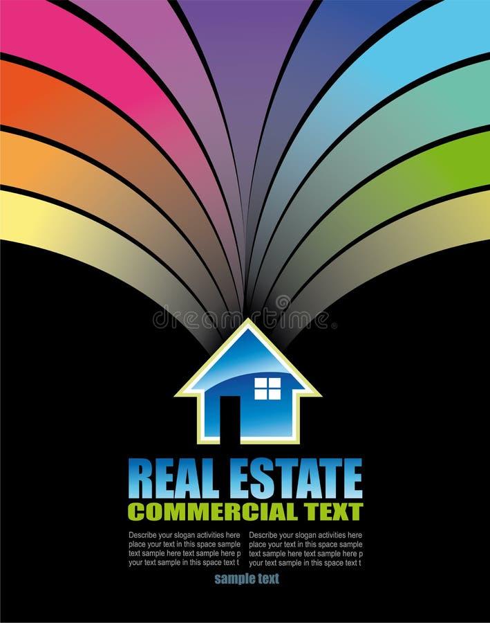 Carte de visite professionnelle de visite colorée abstraite d'immeubles illustration libre de droits