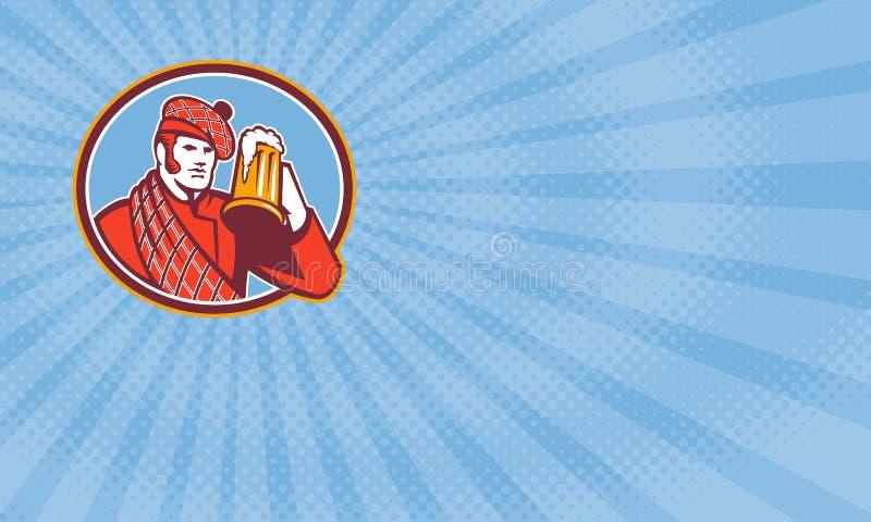Carte de visite professionnelle de visite de brasserie de Scotsman illustration libre de droits