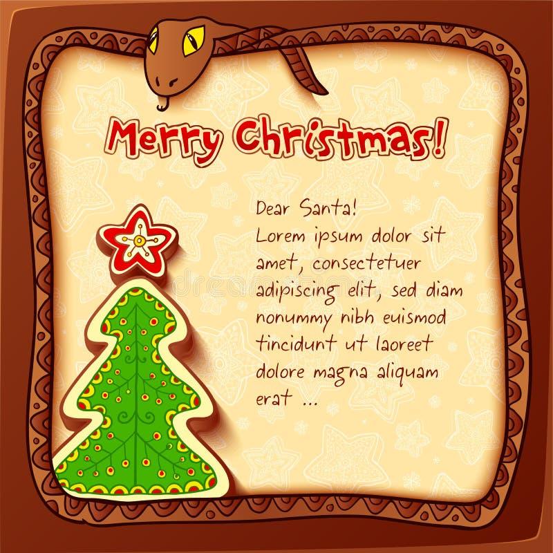 Carte de voeux 2013 de Noël et d'an neuf illustration stock