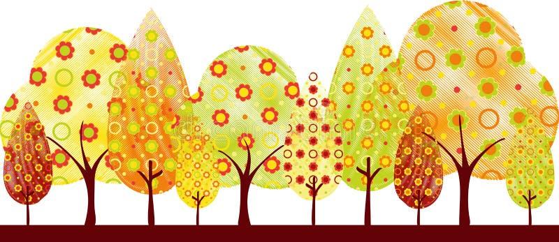 Carte de voeux abstraite d'arbre d'automne image stock