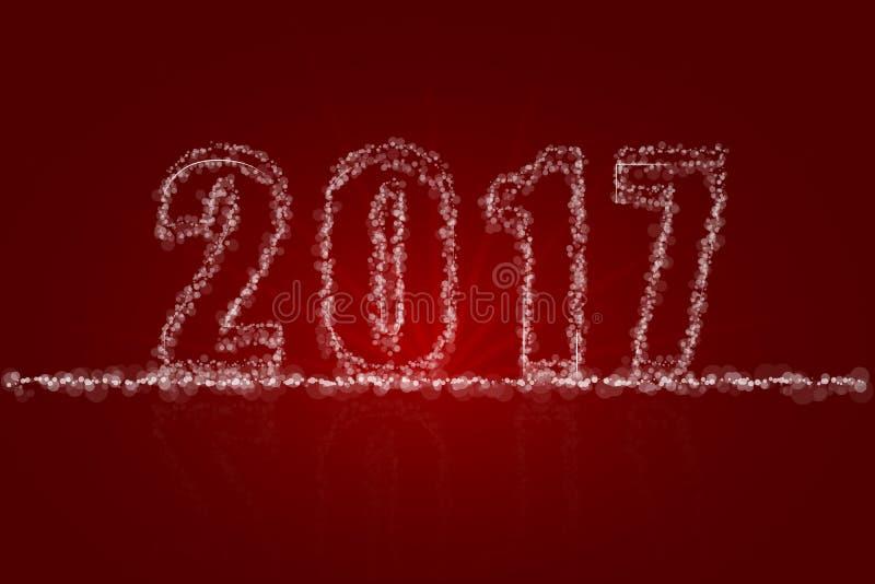 Carte de voeux 2017 abstraite de contexte de bonne année illustration libre de droits