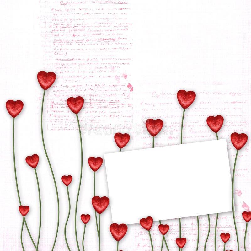 Carte de voeux au jour de rue Valentine illustration libre de droits