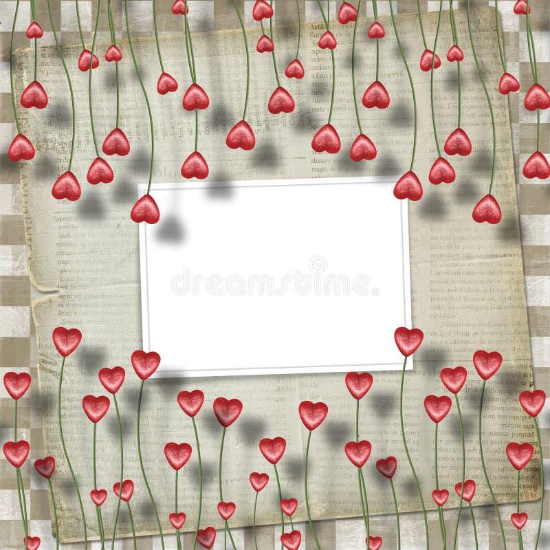 Carte de voeux au jour de rue Valentine illustration de vecteur