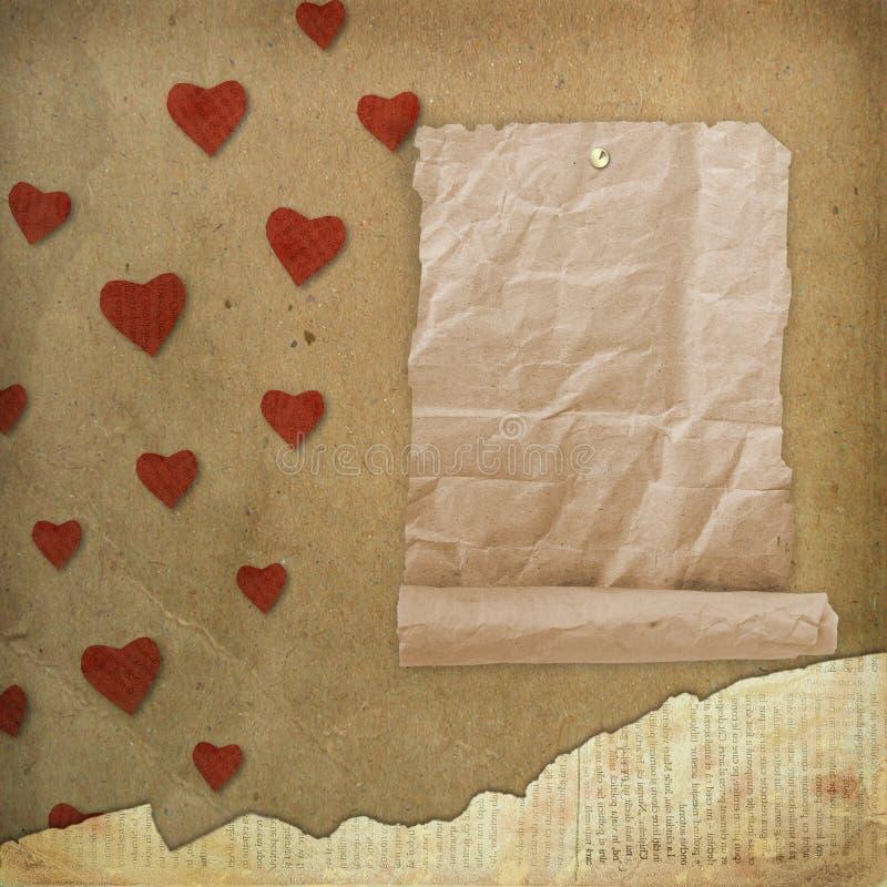 Carte de voeux au jour de rue Valentine illustration stock