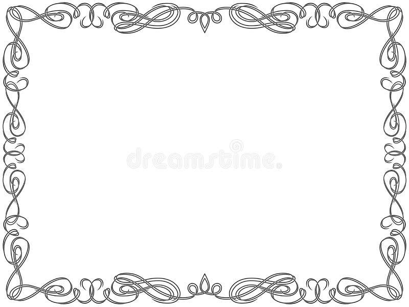 Carte de voeux avec le cadre de remous illustration libre de droits