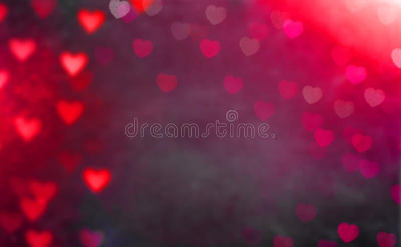 Carte de voeux avec le coeur coloré à l'arrière-plan pour le jour de valentines photo stock