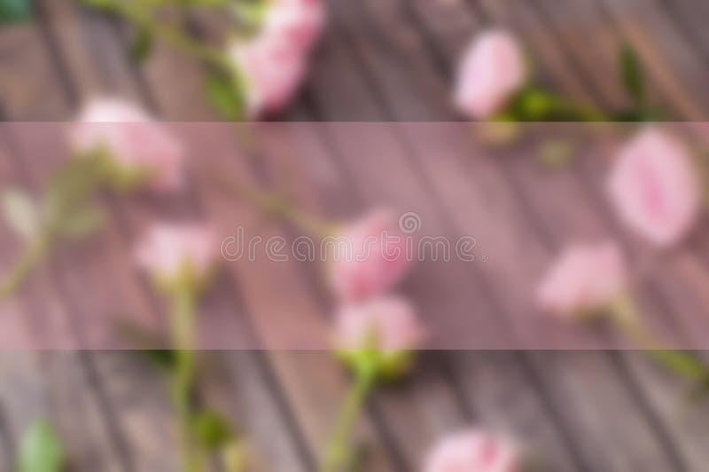 Carte de voeux avec les roses roses photos libres de droits