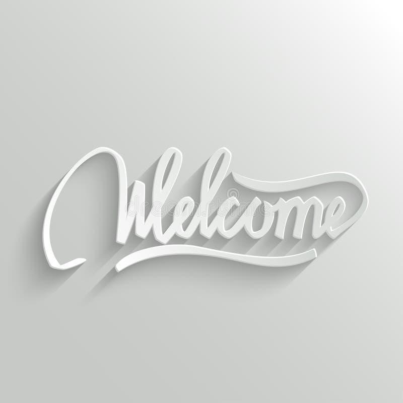 Carte de voeux bienvenue de lettrage illustration libre de droits