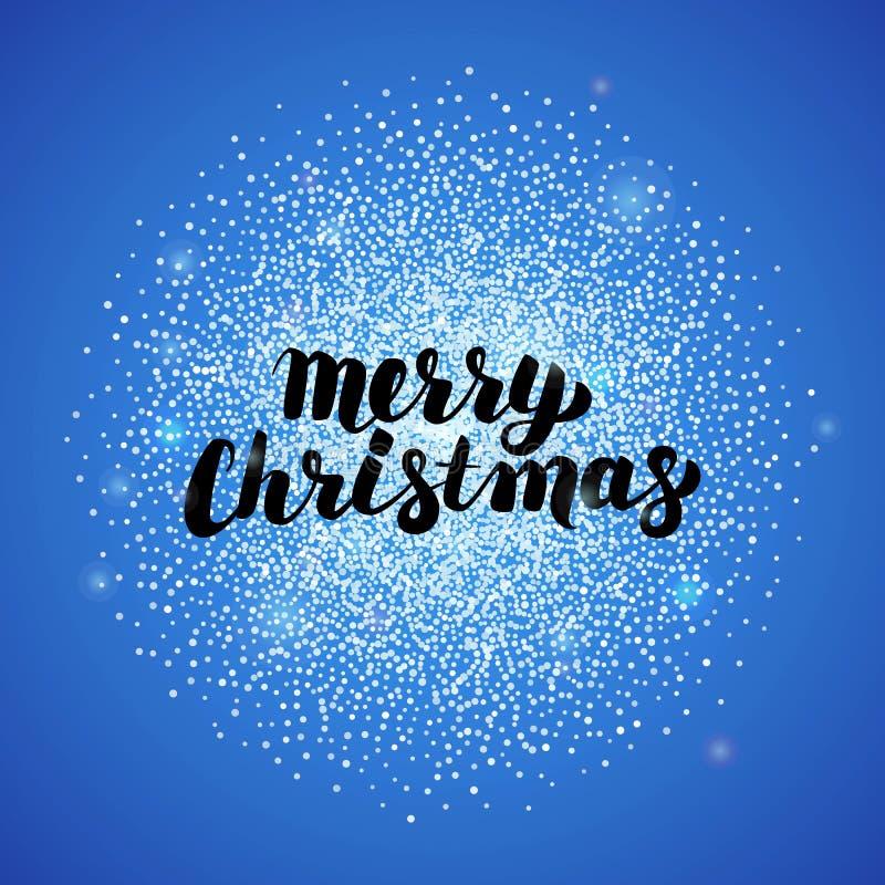 Carte de voeux bleue de Joyeux Noël illustration libre de droits
