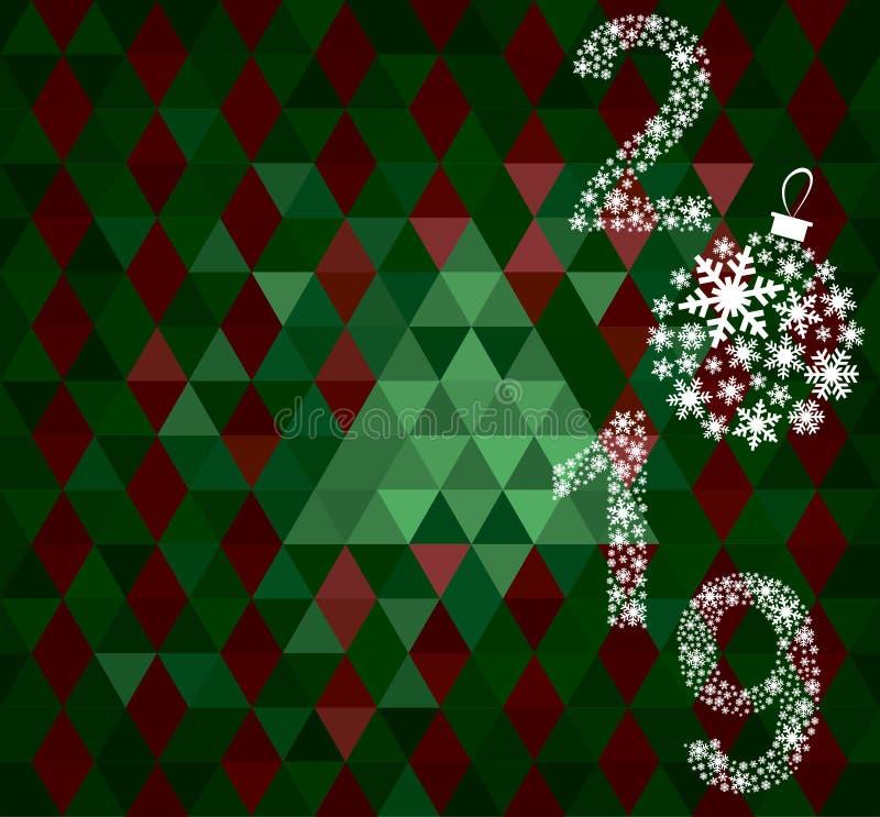 Carte de voeux 2019 de bonne année images stock