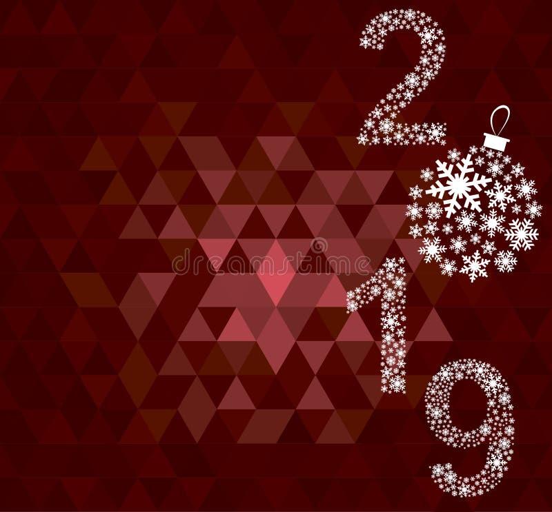 Carte de voeux 2019 de bonne année photo libre de droits