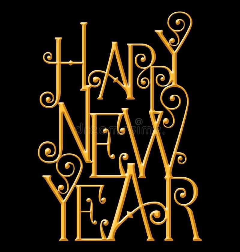 Carte de voeux de bonne année, typographie de nouvelle année illustration libre de droits