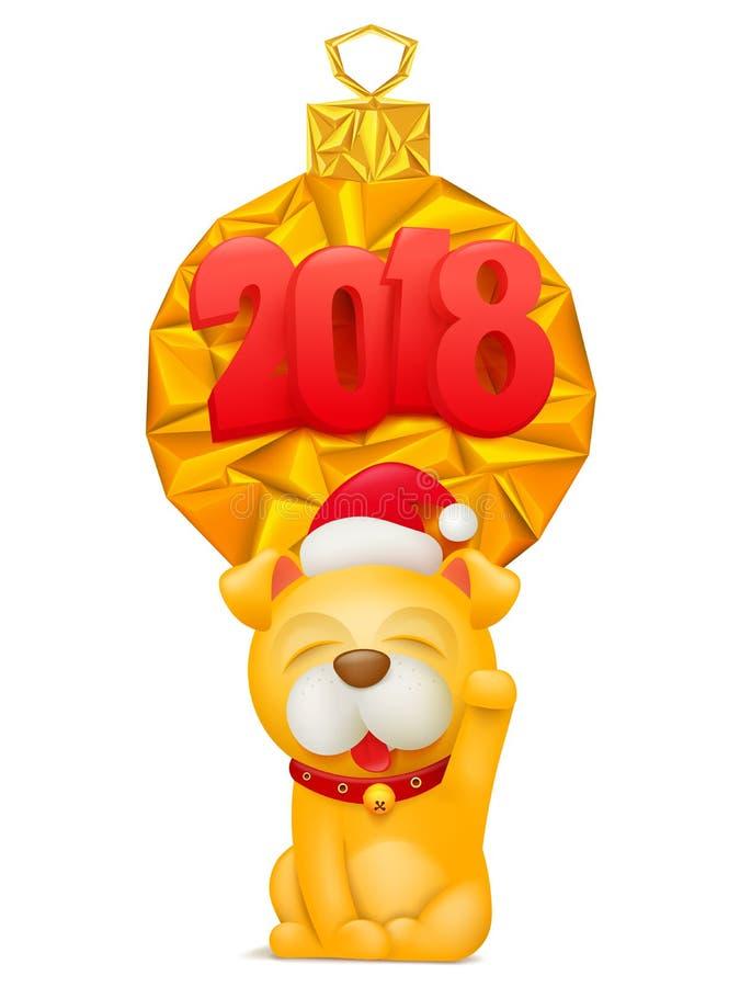 Carte De Voeux De 2018 Bonnes Années Avec Le Personnage De