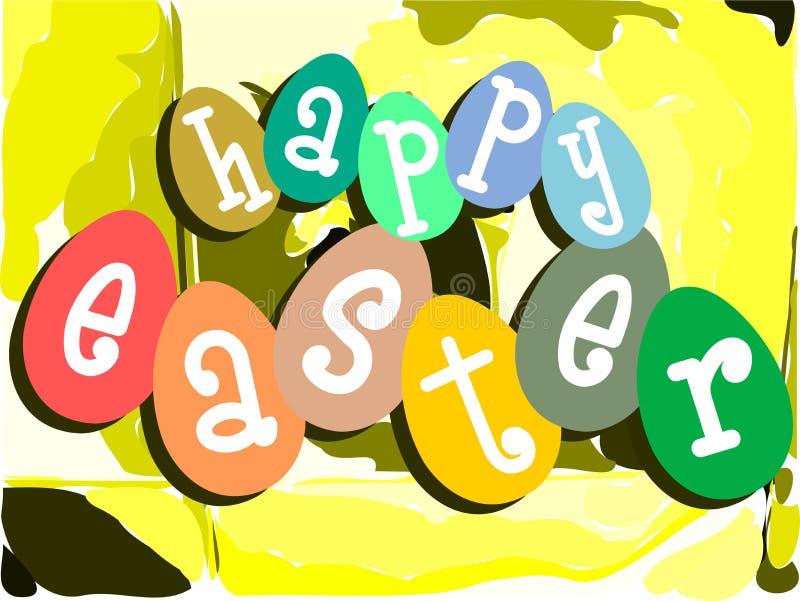 Carte de voeux colorée gentille de Pâques image libre de droits