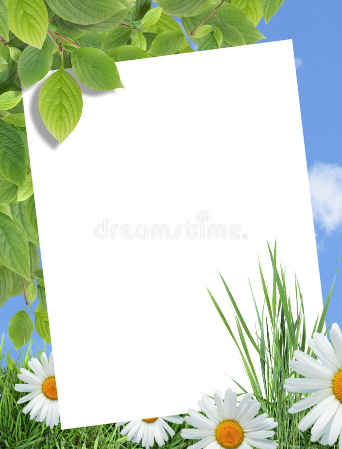 Carte de voeux d'écologie image stock