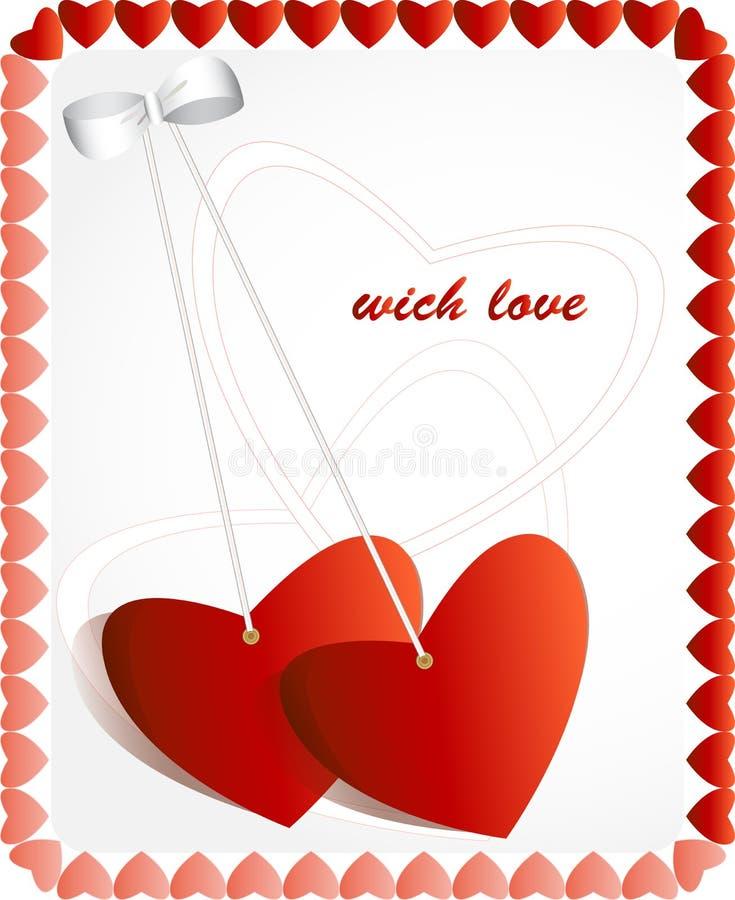 Carte de voeux d'amour illustration libre de droits