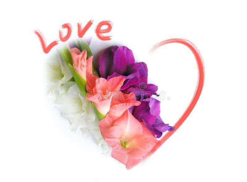 Carte de voeux d'amour - jour de Valentines de rue photos stock