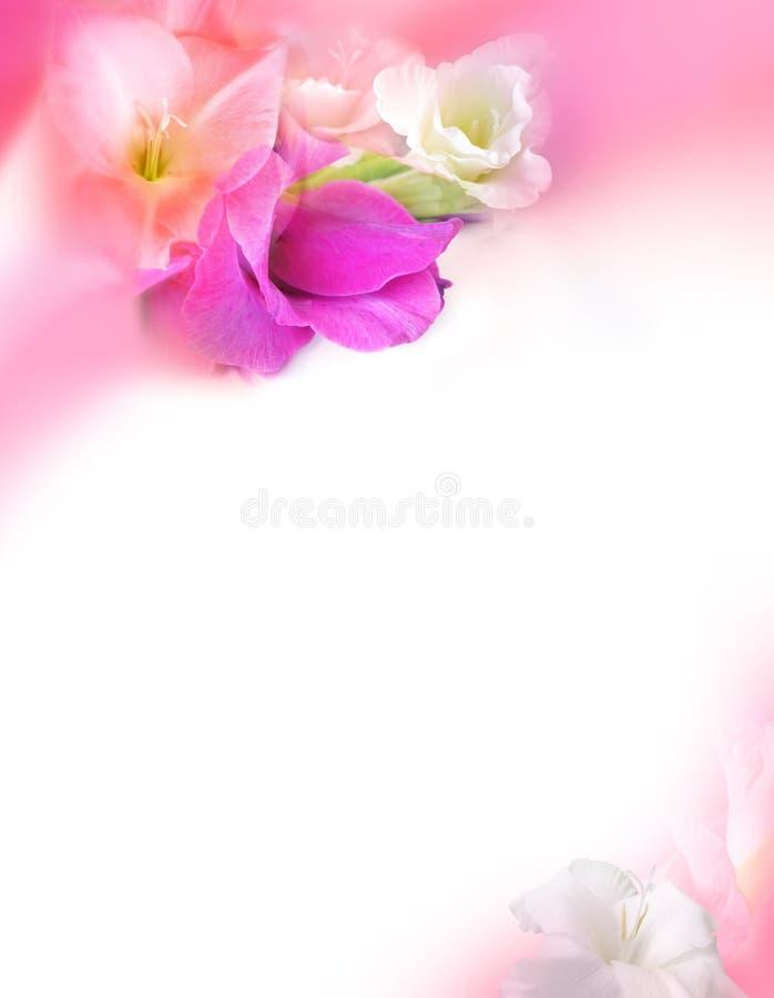 Carte de voeux d'amour - jour de Valentines de rue - fleurs illustration stock