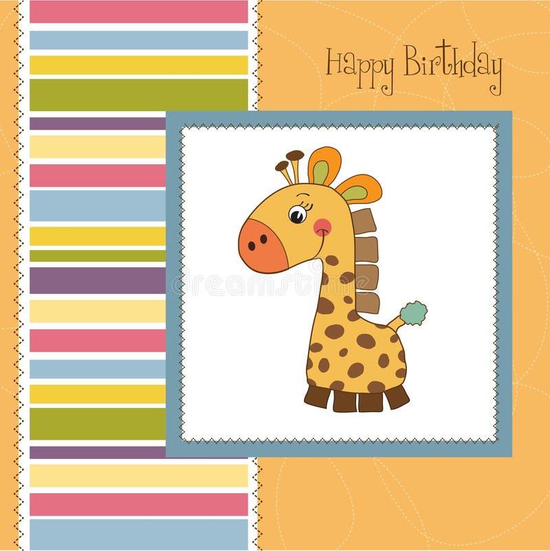 Carte de voeux d'anniversaire illustration libre de droits