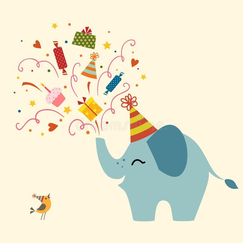 Carte de voeux d'anniversaire illustration de vecteur
