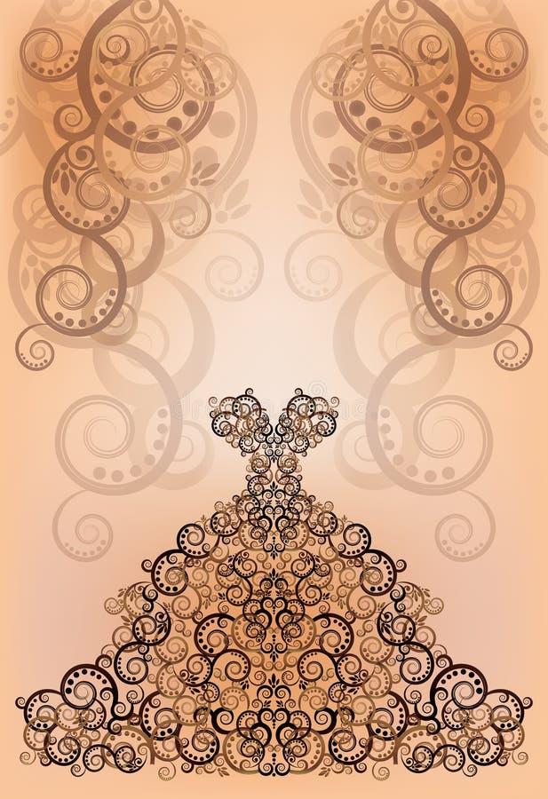 Carte de voeux d'invitation de mariage illustration libre de droits