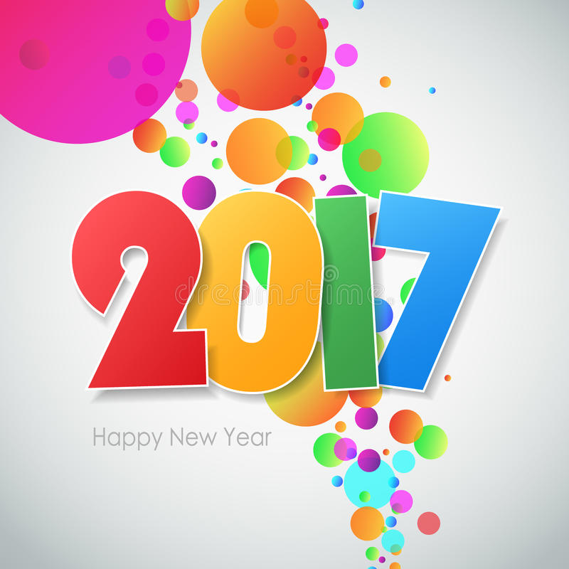 Carte de voeux 2017 de bonne année illustration stock