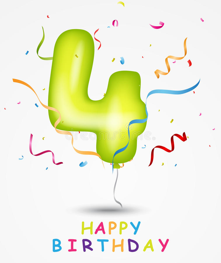 Carte de voeux de célébration de joyeux anniversaire illustration de vecteur