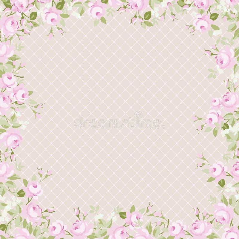 Carte de voeux de calibre pour la fête des mères ou le Valentine Day illustration stock