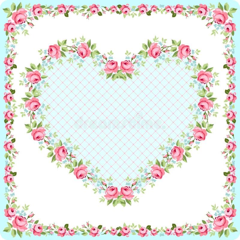 Carte de voeux de calibre pour la fête des mères ou le Valentine Day illustration de vecteur