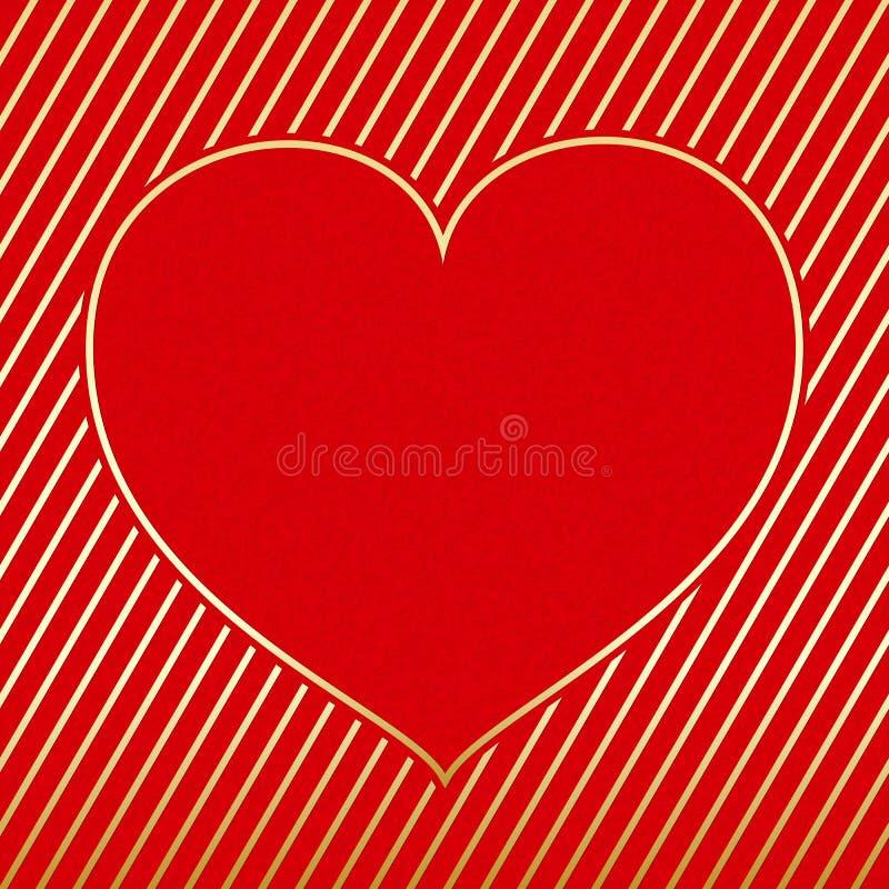 Carte de voeux de coeur de Saint Valentin photographie stock libre de droits