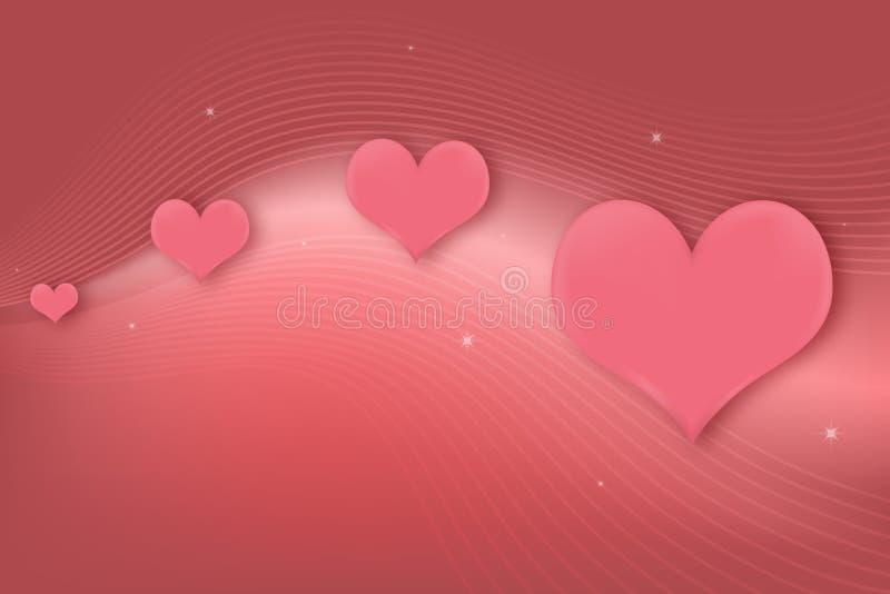 Carte de voeux de coeurs illustration stock