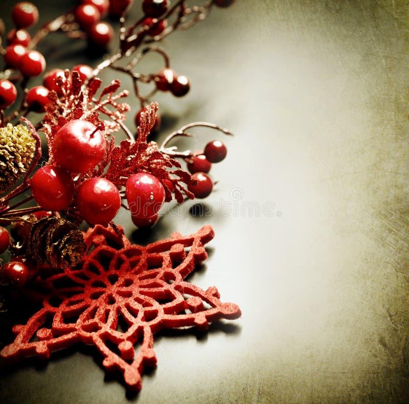 Carte de voeux de cru de Noël photographie stock libre de droits