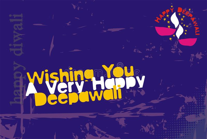 Carte de voeux de Diwali - dernier cri illustration libre de droits