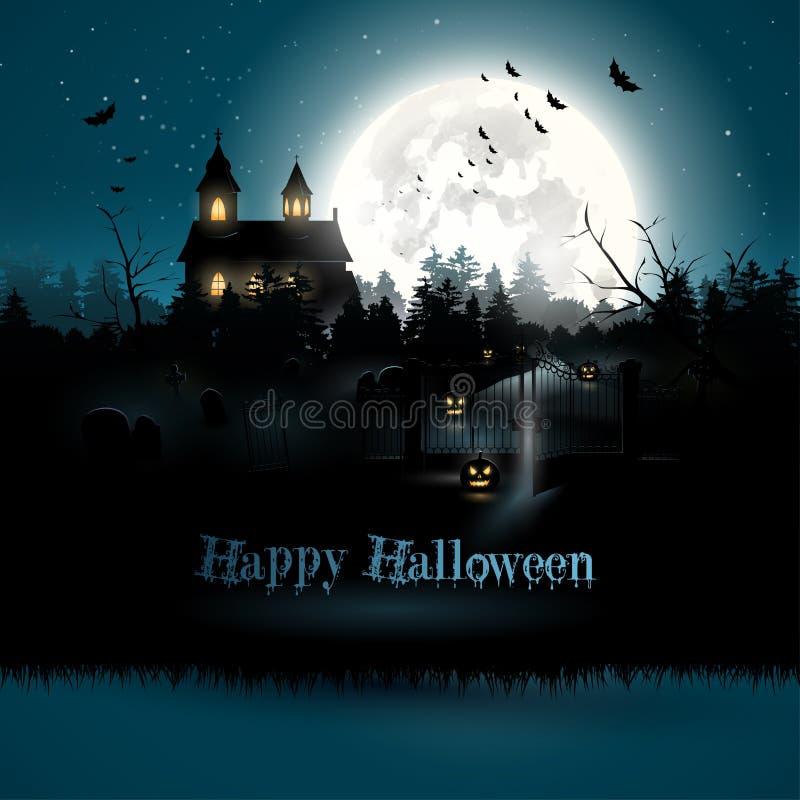 Carte de voeux de Halloween illustration libre de droits
