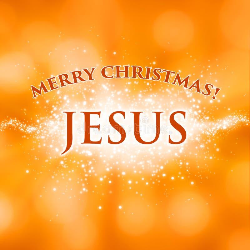Carte de voeux de Jésus de Joyeux Noël illustration libre de droits