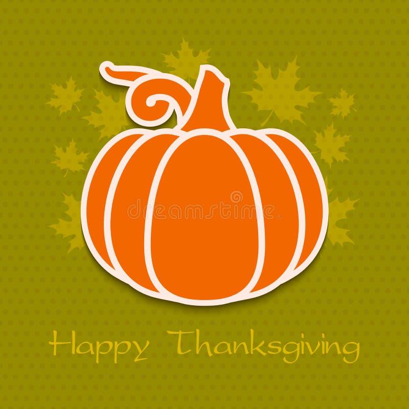 Carte de voeux de jour de thanksgiving eps10 illustration de vecteur