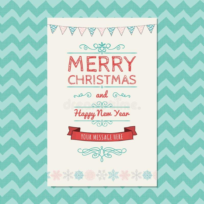 Download Carte De Voeux De Joyeux Noël Illustration de Vecteur - Illustration du carte, ornement: 45354061