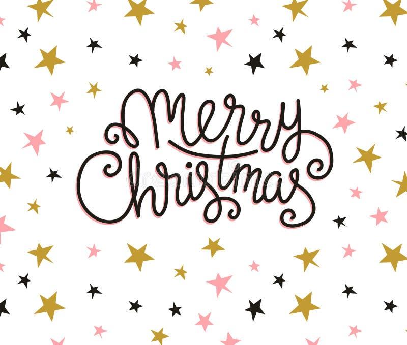 Carte de voeux de Joyeux Noël Calibre d'affiche de vacances de vecteur de saison illustration libre de droits