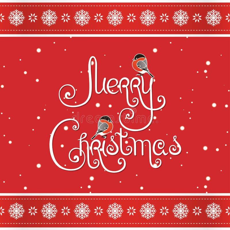 Carte de voeux de Joyeux Noël d'impression illustration libre de droits