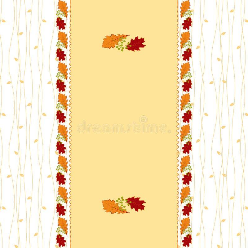 Carte de voeux de lame d'automne photo stock