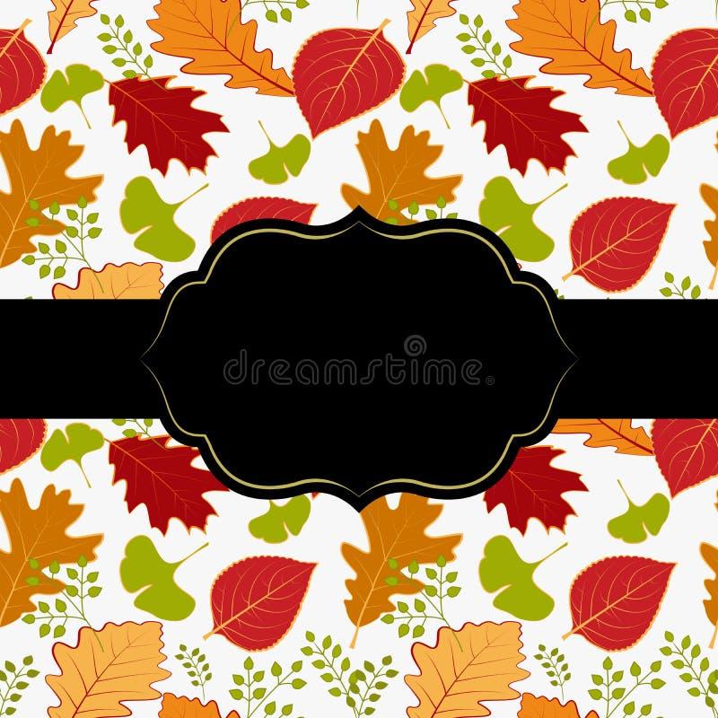 Carte de voeux de lame d'automne photographie stock