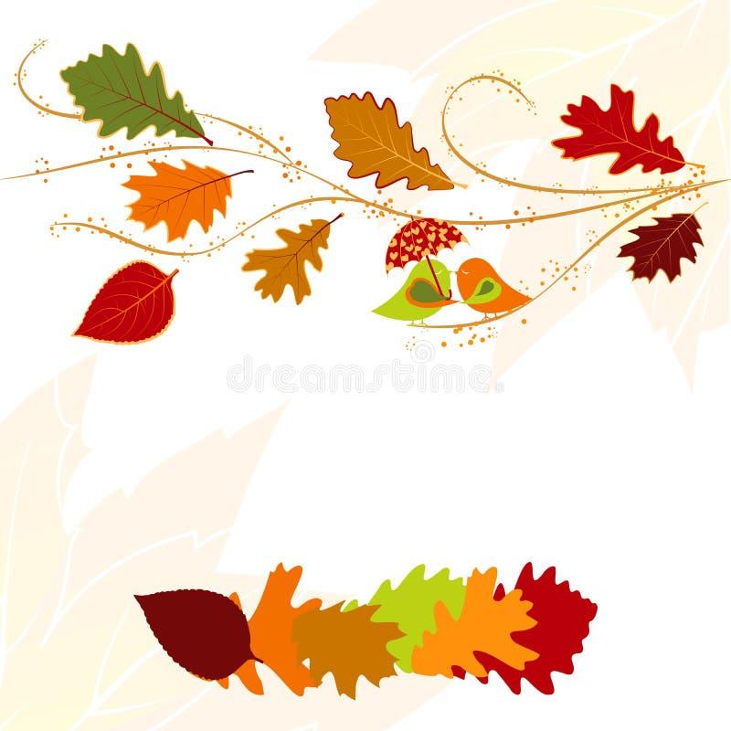 Carte de voeux de lame d'automne illustration stock