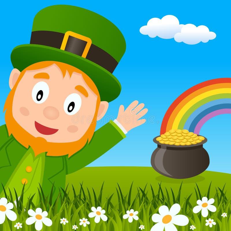Carte de voeux de lutin de jour du ` s de St Patrick illustration libre de droits