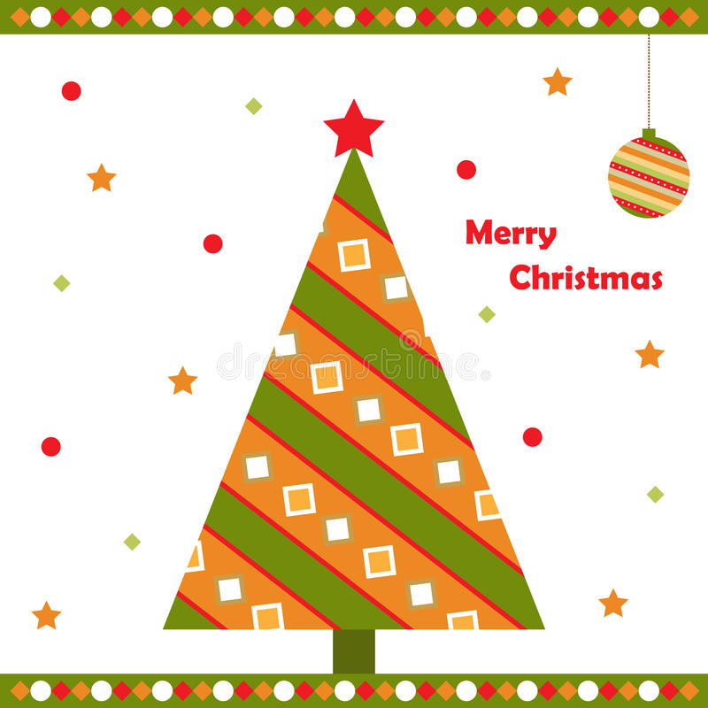 Carte de voeux de Noël illustration stock