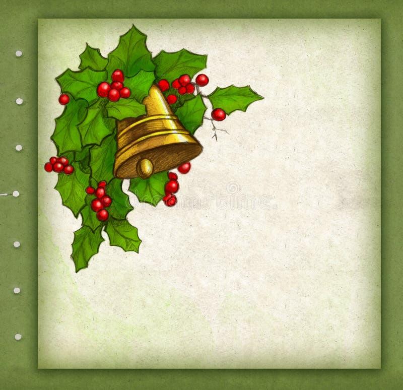 Carte de voeux de Noël illustration libre de droits