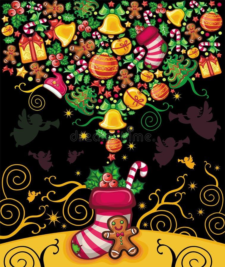Carte de voeux de Noël 4 illustration de vecteur