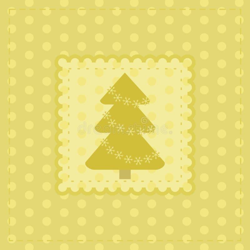 Carte de voeux de Noël avec l'arbre de nouvelle année illustration stock