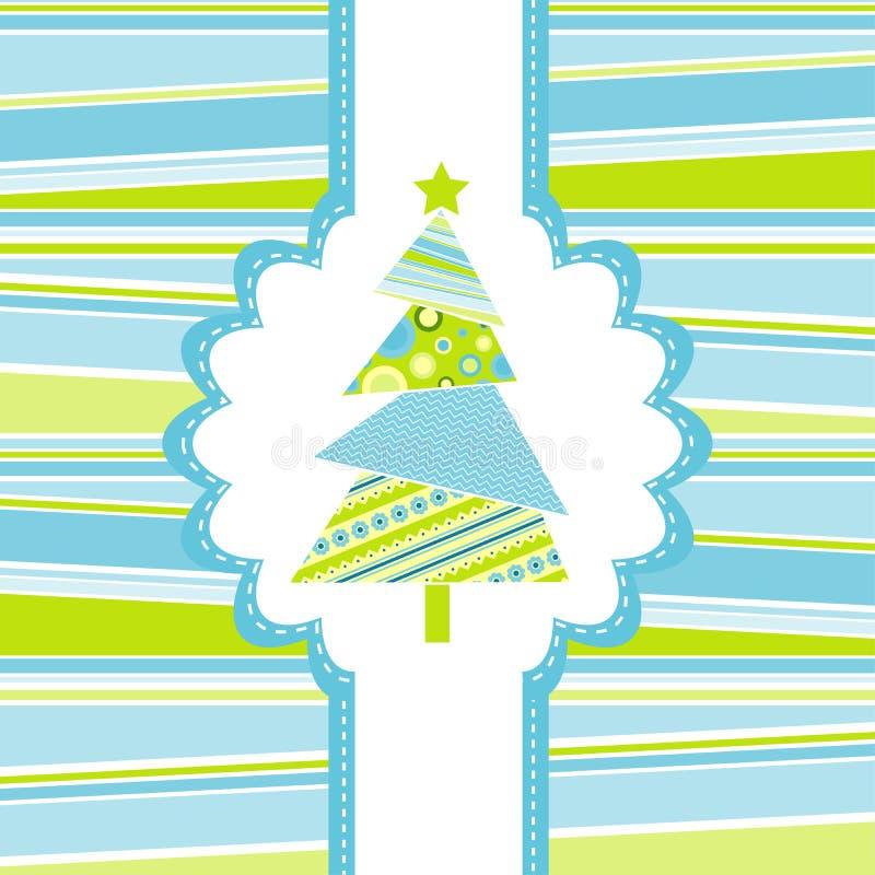 Carte de voeux de Noël de descripteur illustration stock